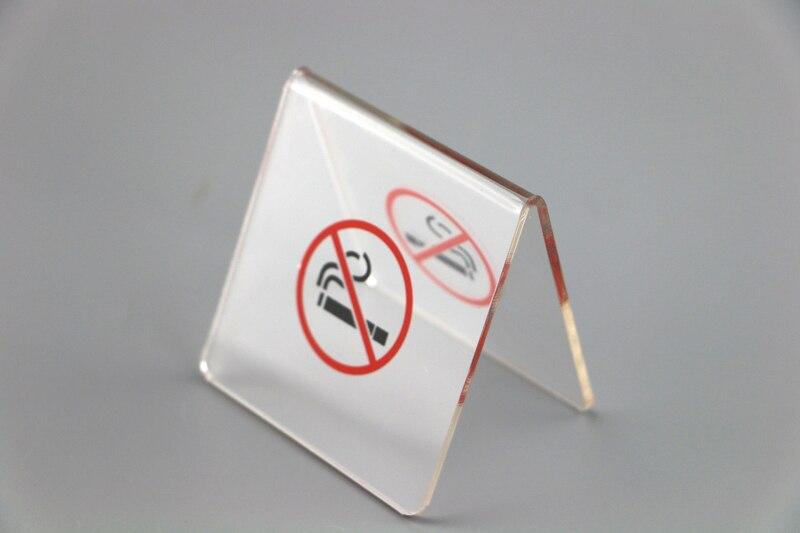 20 Uds. De acrílico para no fumar, soporte de mesa para tablet, señal de advertencia para no fumar, soportes de escritorio para tienda, placas de señal decorativa, accesorios