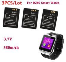 1pc/3 pièces 380mAh SmartWatch Rechargeable Li-ion polymère batterie pour DZ09 montre intelligente batterie pour KSW-S6 RYX-NX9 A1 montre intelligente