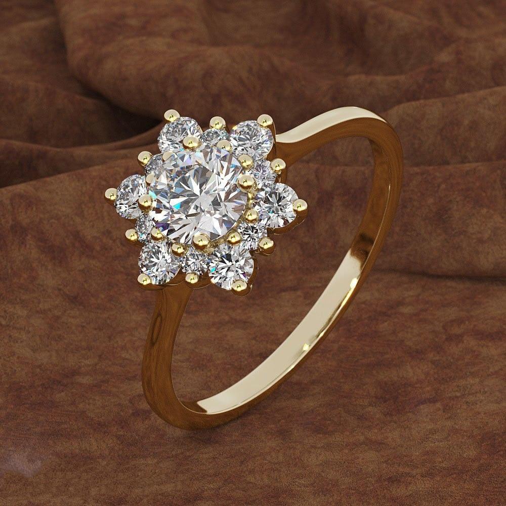 Hermosos anillos creativos de copo de nieve para mujer, Zirconia cúbica, 3 colores, regalos de compromiso para boda, joyería de moda KCR068