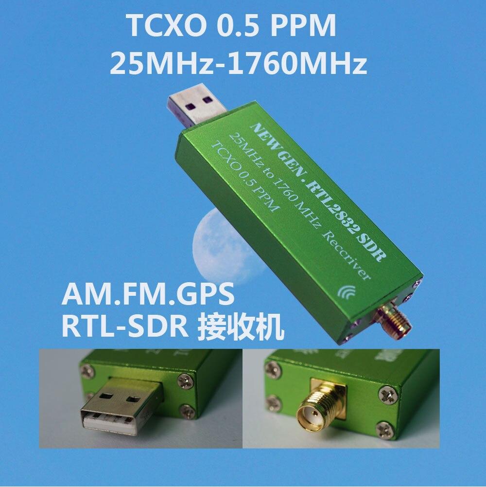 SDR Software Radio Receiver TXCO with TCXO Temperature-compensated Crystal Oscillator RTL-SDR Receiver RTL2382U