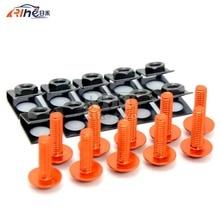 orange Universal 6mm motorcycle fairing screw kit set screws for Hyosung GT250R GT650R Kawasaki NINJA 250R NINJA 300R zx9r/zx10r