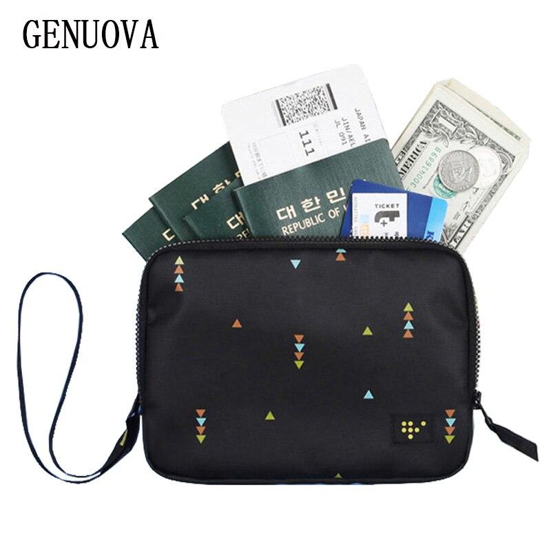 Cartera de doble capa para pasaporte, para hombre y mujer, para viaje, mano, portadores de identificación, multibolsillos, organizador, paquete de tarjetas de crédito