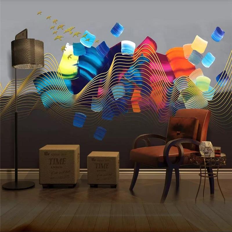 Custom wallpaper mural creative fashion bird 3d background wall home decoration painting high-grade waterproof material недорого