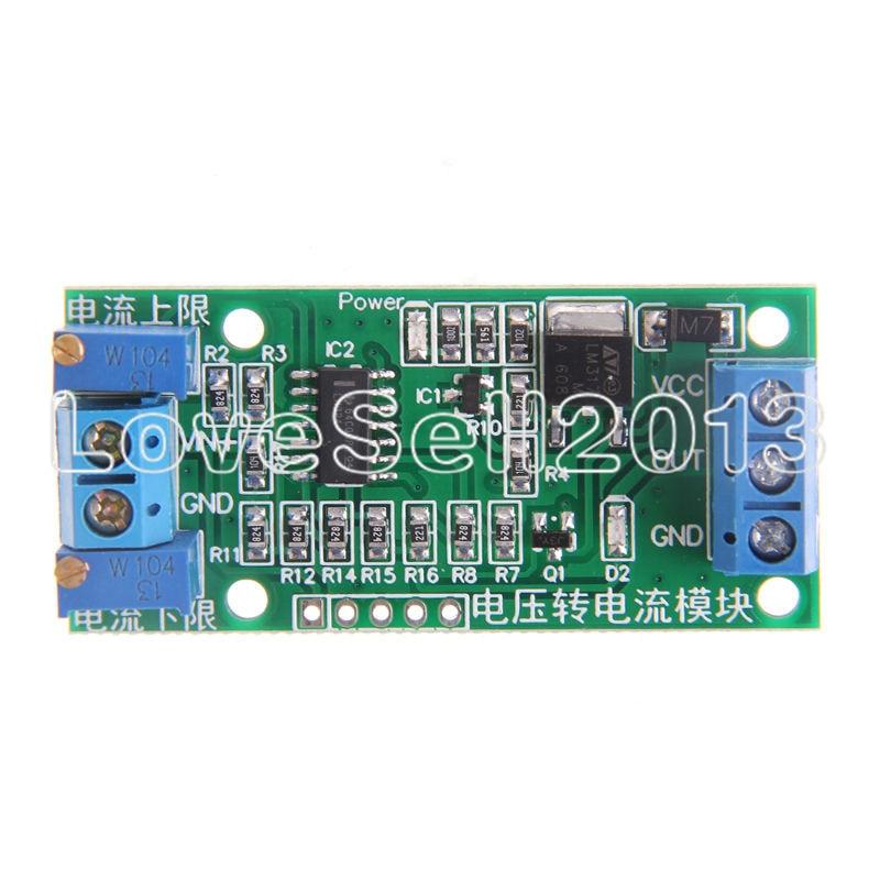 Линейное преобразование напряжения в текущий модуль сигнала передатчика 0-5 в 4-20 мА постоянного тока 12 В-24 В потенциометр регулируемый изолированный