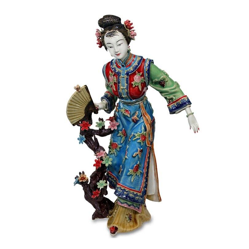 Statue Antique chinoise en céramique   Statue de dame chinoise en céramique, Collections artisanales pures, Figurine en porcelaine, décoration de maison Vintage