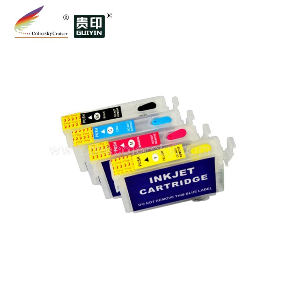 (RCE561-564) cartucho de tinta recargable para Epson T0561-t0564 Stylus Photo RX430 R250 RX530 BK/C/M/Y