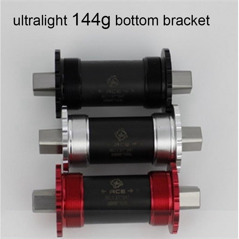 3 colores ultraligeros, 144g, titanio cuadrado, soporte inferior cónico, 119mm, para bicicleta brompton