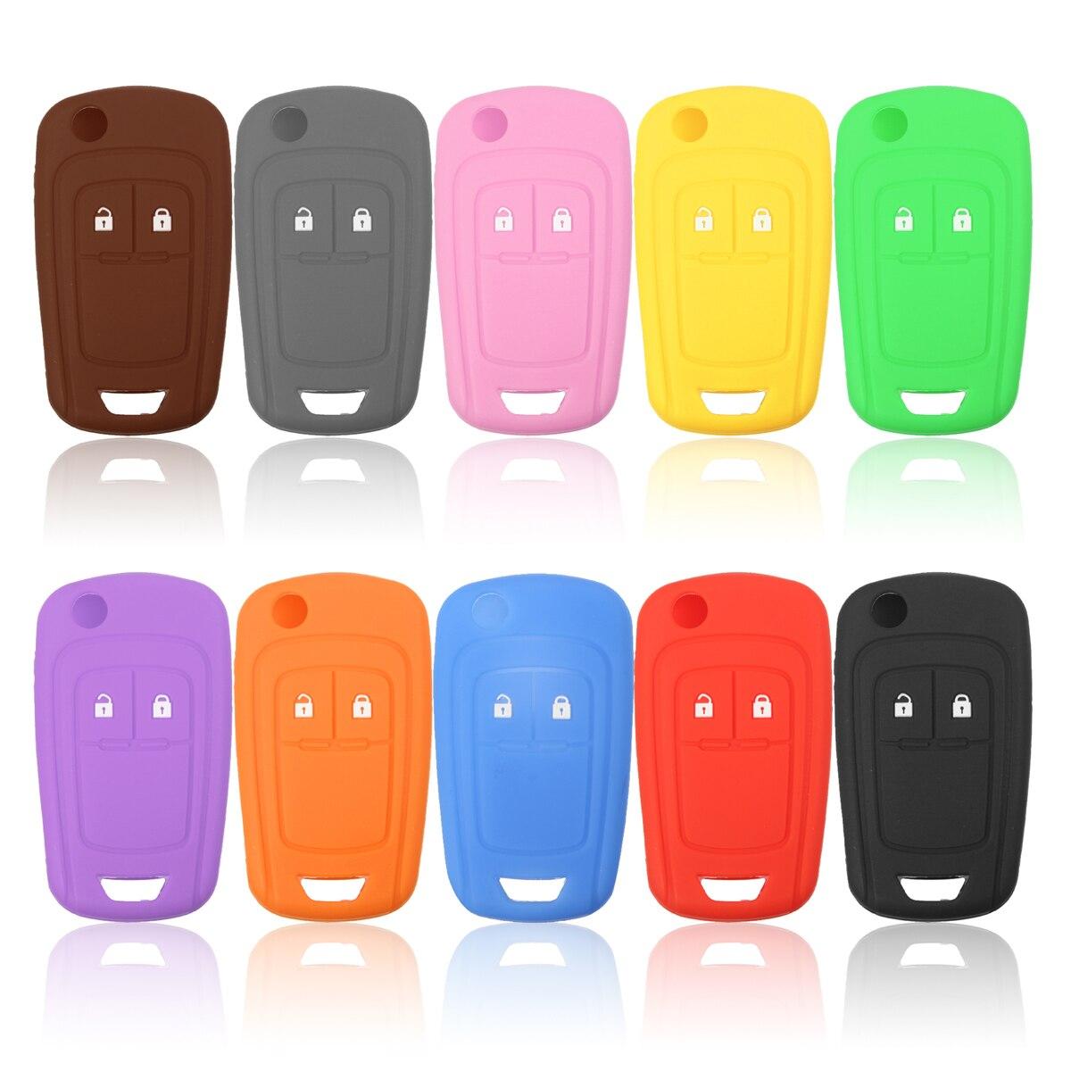 Funda de silicona Multicolor para llave, 2 botones, para VAUXHALL OPEL INSIGNIA para CORSA
