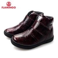 flamingo autumn felt high quality redblack kids boots size 25 30 anti slip shose for girl free shipping 72b jsd 03120311