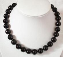 Bijoux pour femme 8mm Onyx noir Howlite perles collier cadeaux de noël bijoux pierre 18 gros boules de pierre Gif