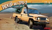 MENG vs-005 1/35 four-wheel pickup truck with zpu-2 anti-aircraft machine gun vs005
