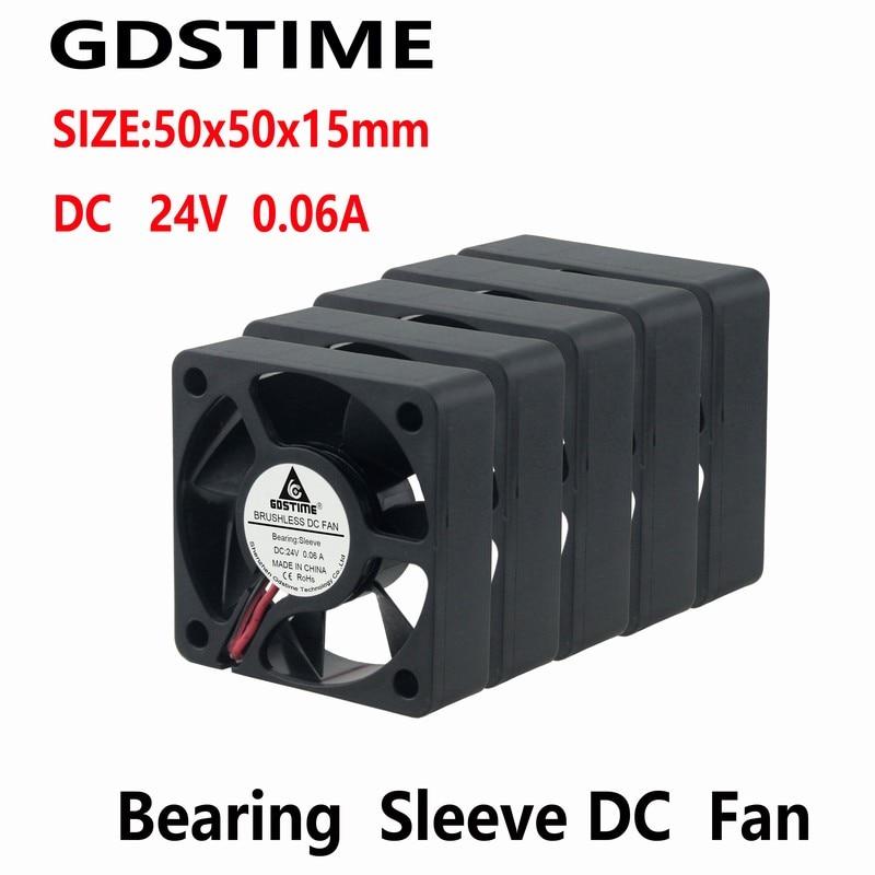 Gdstime 10 قطعة 24V 50x50x15 مللي متر DC Blushless التبريد مروحة 50 مللي متر x 15 مللي متر 5015 المحرك برودة 50 مللي متر x 50 مللي متر الصامتة