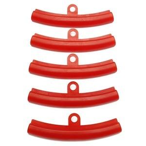 Image 1 - Защитная пленка для автомобильных шин, 5 шт., Красная резиновая защита для обода, сменные края обода, инструменты для защиты бампера из полиэтилена