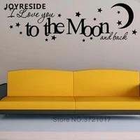 Autocollant Mural pour la maison des reves doux   Autocollant damour  Love You  Mural pour chambre a coucher  autocollants muraux en vinyle de Design pour la lune M332