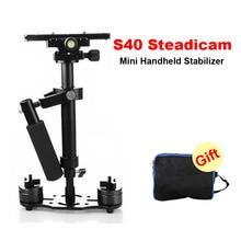 S40 Steadicam 40cm Mini Steadycam Pro estabilizador de vídeo de cámara de mano para videocámara Digital cámara de vídeo Canon Nikon Sony DSLR