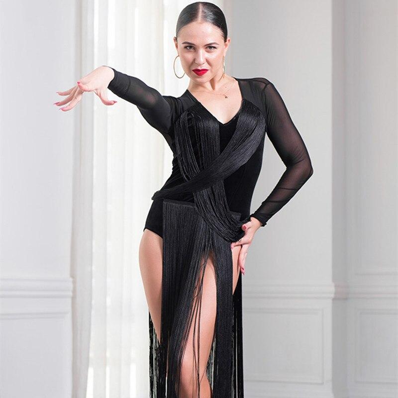 tassel latin dance dress women latin dress latin salsa dress modern dance costume samba costume dance wear latin competiti dress