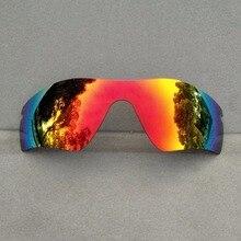 Orange Red Mirrored Replacement Lenses for Radar Path Sunglasses Frame 100% UVA & UVB Anti-Reflective