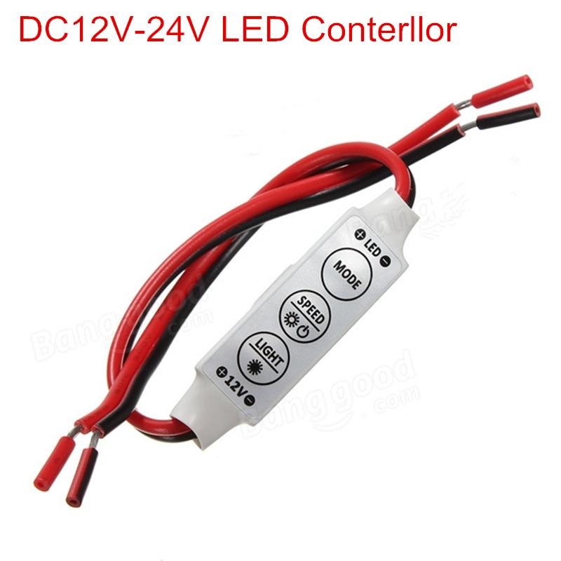 Dc12v 24 فولت البسيطة led ديمر تحكم 3 مفاتيح 6a للسيطرة لون واحد led قطاع الخفيفة smd 3528 5050 5630 شحن مجاني