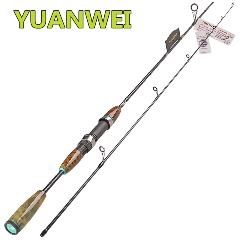 YUANWEI 2 Secs 1,8 m caña de pescar giratoria UL 2-8g señuelo de carbono caña de pescar Varas de Pesca caña De Pesca soporte Peche