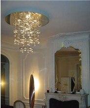Height 40cm Murano Due Bubble Glass Chandelier Suspension Light Lighting Fixtures Pendant Lamp modern hanging living room lamps