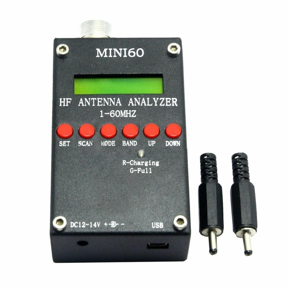 Mini60 Sark100 1-60MHz HF ANT SWR Analizador de antena Metro + Bluetooth + aplicación Android + batería + Software de PC para radioaficionados