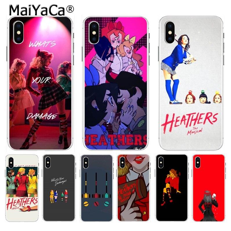 Maiyaca heathers o musical moda quente diversão dinâmico caso de telefone para iphone 8 7 6 s plus x xs max 10 5 5S se xr coque escudo