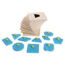 Montessori Shapes Sorting Puzzle Geometry Board Education Preschool Kids Toys