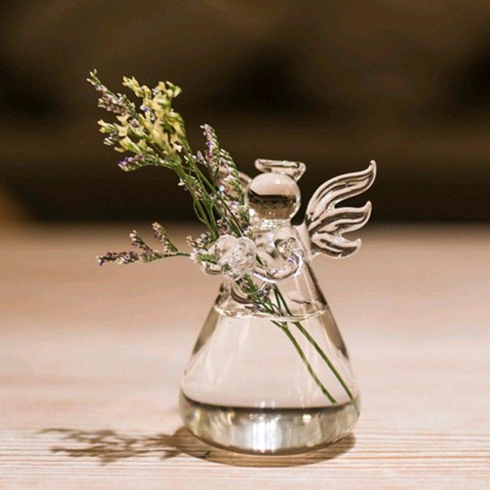 Behogar Estilo Anjo Decoração Vaso de Flor De Vidro Vidrio Vaso Florero de Vidro Vetro Glas Vaso Casa Vaso de Mesa Decoração de Mesa