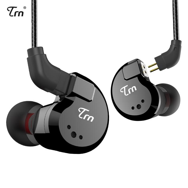 TRN V80 2DD + 2BA الهجين في الأذن سماعة HIFI DJ رصد تشغيل سماعة أذن تستخدم عند ممارسة الرياضة سماعات الأذن مع 2PIN انفصال TRN V20/V60