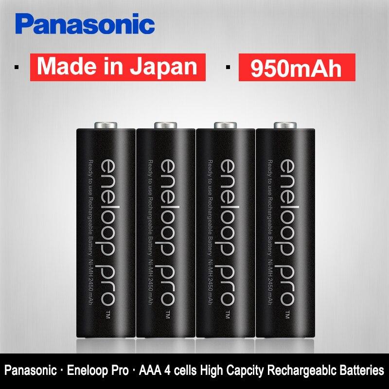 Оригинальные аккумуляторы Panasonic Eneloop 4 шт./лот AAA, предварительно Заряженная аккумуляторная батарея 1,2 В 950 мАч, Ni-MH батарея eneloop, бесплатная доставка