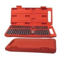 Hot 40Pcs 1/2-Inch and 3/8-Inch Drive Star Torx Spline Hex Bit Socket Set Tool Kit