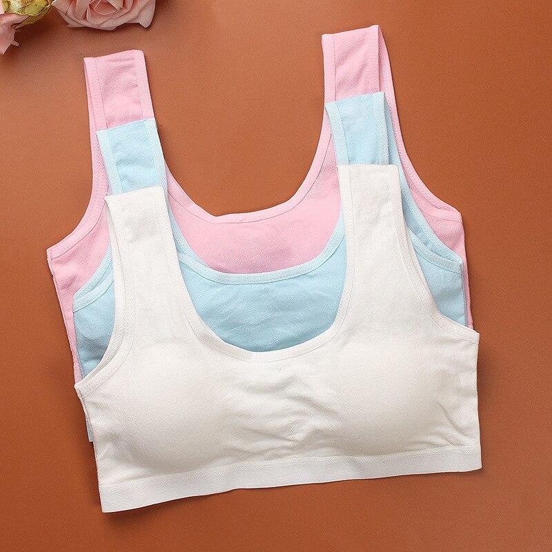 Teenager Kinder Bh Mädchen Unterwäsche Kleidung Baumwolle Teen Sport-Bh mit Brust Pad Pubertät Mädchen trainings Bh Kinder Unterwäsche