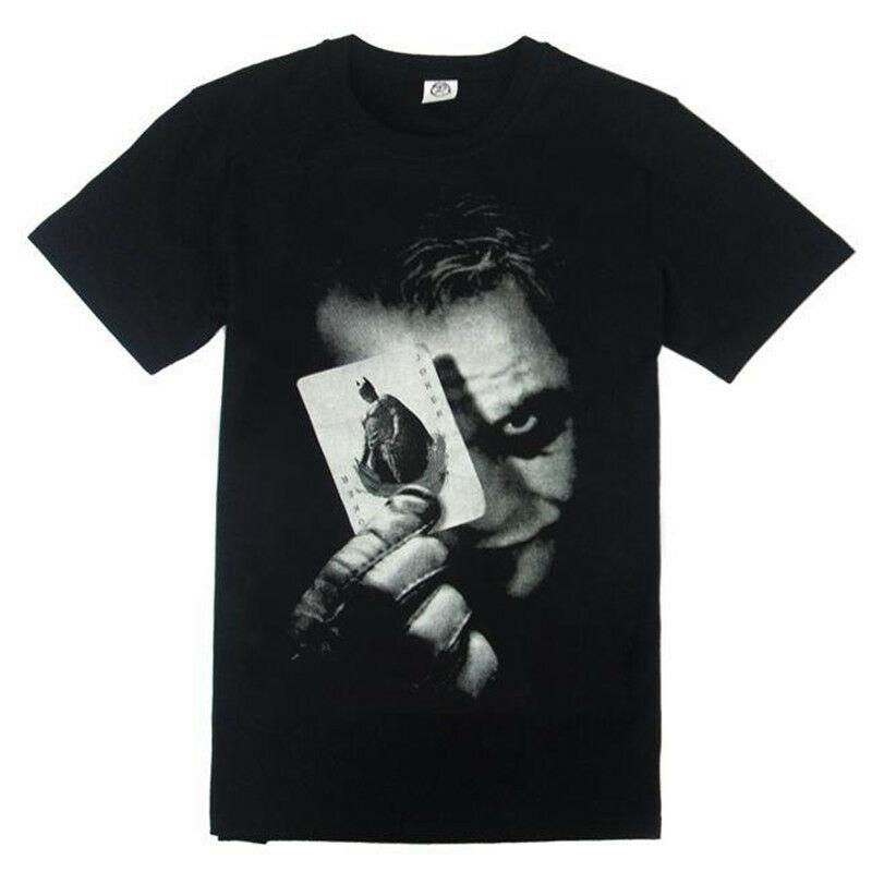 Camiseta de algodón con estampado del Joker de Batman El Caballero Oscuro