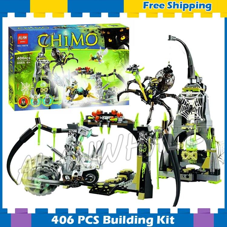 406 pçs spinlyn cas caverna aranha rainha rinoceronte bicicleta 10078 modelo blocos de construção meninos montar presentes conjuntos hobby compatível com lago