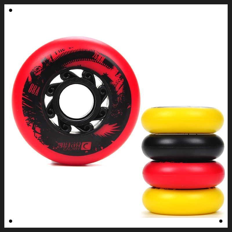 SzBlaZe 4 шт. 88A качество PU встроенные колеса для роликовых коньков 72/76/80 мм, ролик с высоким отскоком для волновых роликовых коньков, доска для уличного серфинга