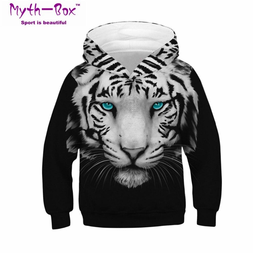 Sudaderas deportivas de invierno para niños, sudaderas con estampado de tigre en 3D para niños, camisetas juveniles suéter para niño de 4 a 13 años, jerséis con capucha para niño y niña