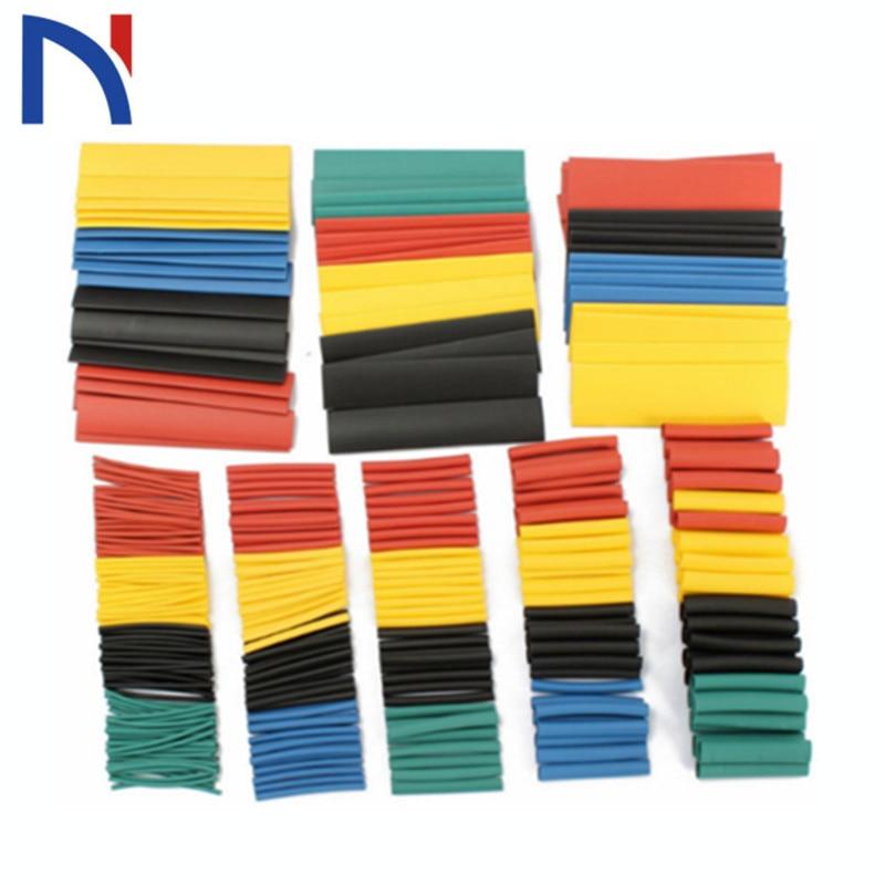 164/328pcs Shrinking Heat Shrink Tube Colorful 21 Polyolefin Tubing Sleeve Wrap Wire Set Tubing Wrap Sleeve Assorted 8 Size