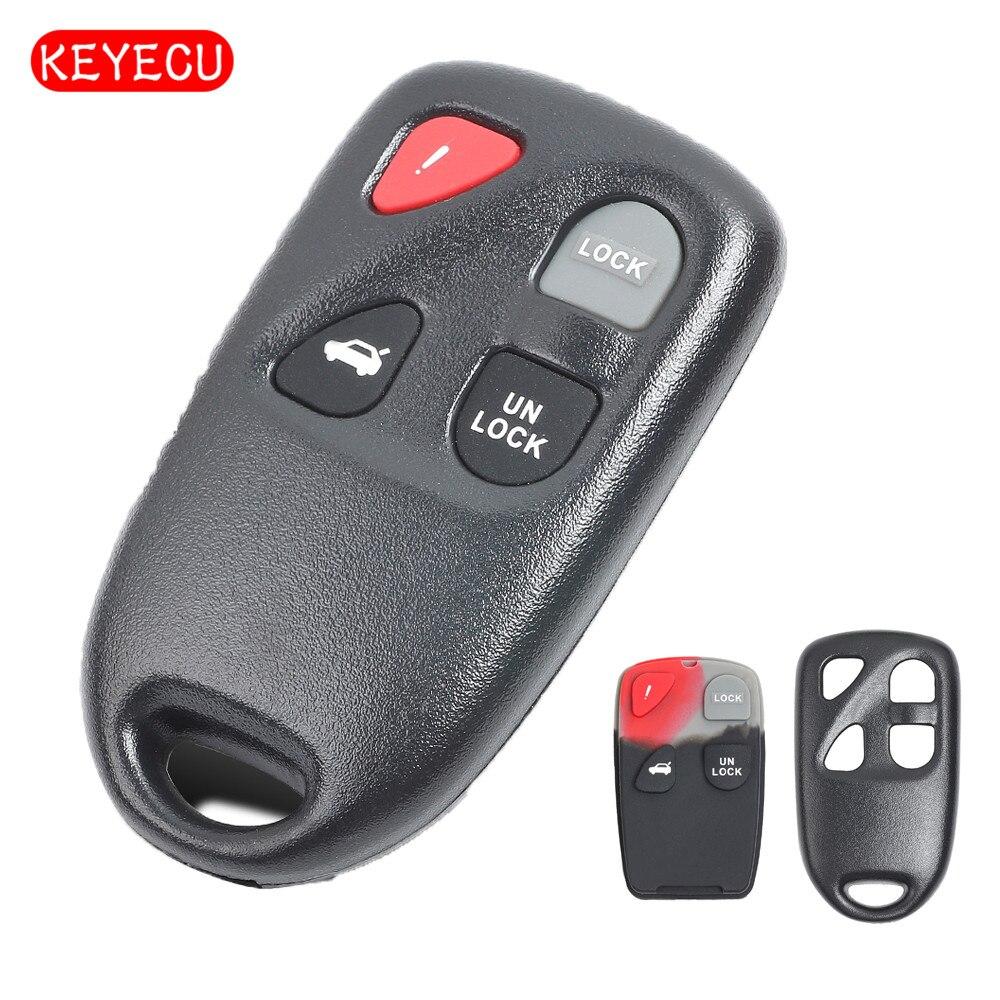 Keyecu reemplaza la carcasa de la llave remota Fob 4 botones para Mazda FCC KPU41805 KPU41777 KPU41701 (solo carcasa)