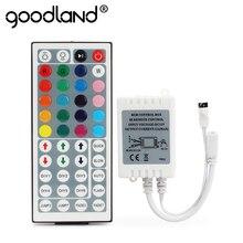 LED contrôleur rvb 24 clés 44 clés Mini IR télécommande RGBW DC12V gradateur boîte de contrôle pour SMD2835 3528 5050 LED lumière de bande