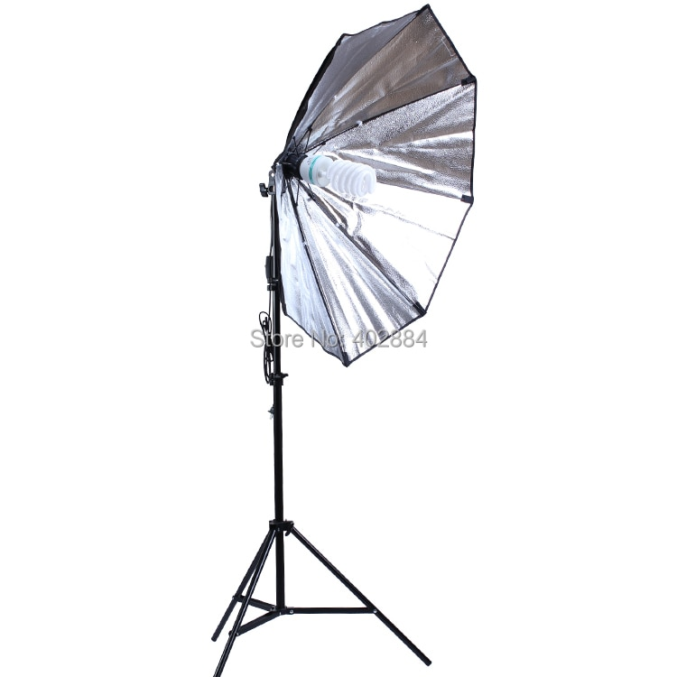 Difusor de estudio fotográfico 86cm Octágono Softbox iluminación fotográfica con bombilla de 150W 200cm soporte de luz de trípode