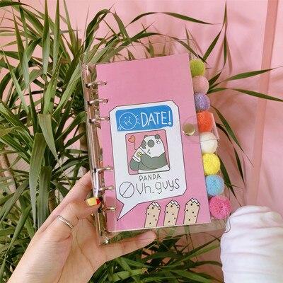 Cuaderno DIY para niñas, organizador de diario, cepillo de Dulce Estrella para Bingbing, diario Kawaii, estudiante, diario, papelería de planificación, regalo