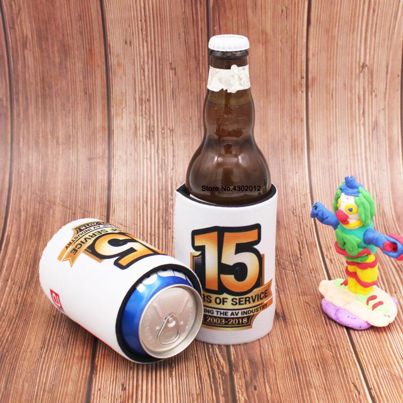 500pcs/lot Can Cooler Wedding Bottle Cooler Neoprene Beer Bottle Holder Beer Cooler Stubby Holder Promotional Gift Imprint Logo