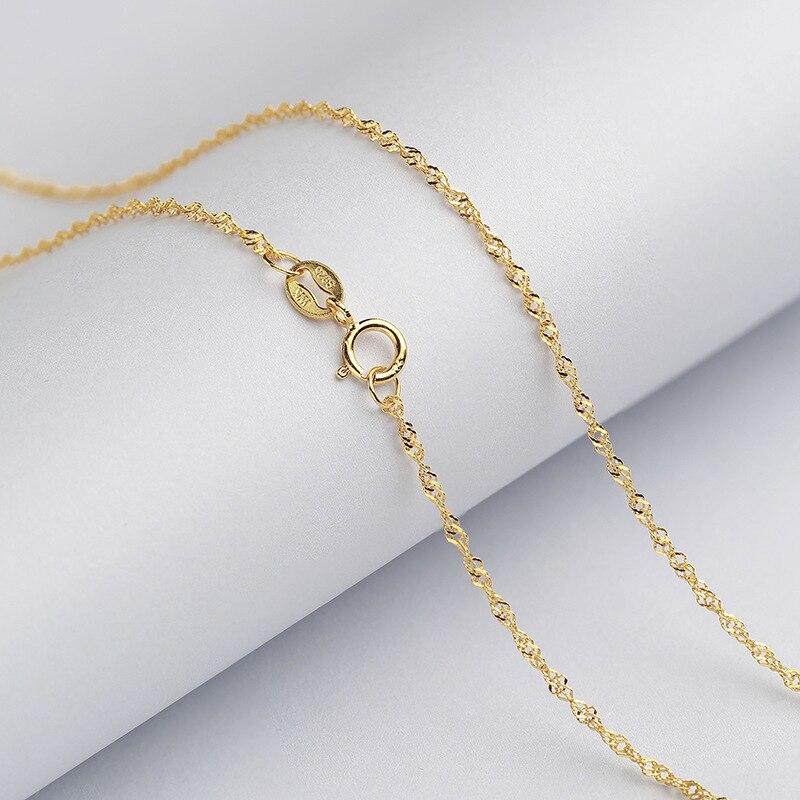 1,3mm collar de cadena de serpiente de plata pura oro blanco amarillo oro rosa oro Color plata esterlina cadena