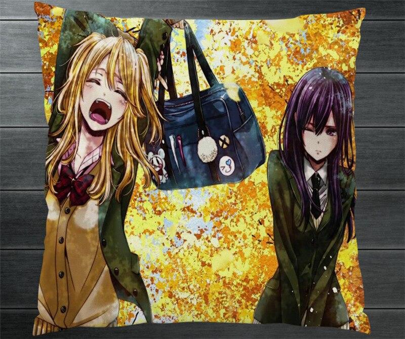 Anime cítricos Aihara Yuzu Aihara Mei beso dos fundas de almohada laterales almohada grande almohada cubierta Otaku Manga Cosplay regalo P5