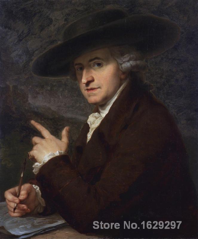 Retrato pintura retrato de artistas marido el pintor Antonio Zucchi por Angelica Kauffman lienzo de alta calidad pintado a mano