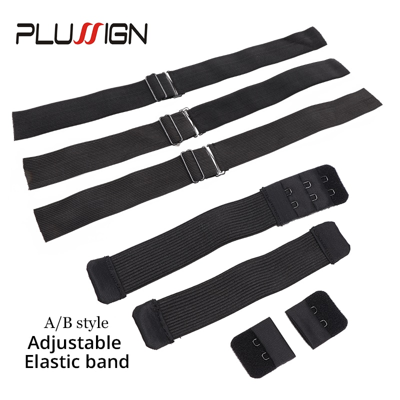 3Pcs/Pack Hair Elastic Band With Adjustable Hooks For Wigs/Lace Closure/Lace Frontal Sewing Band 2.5Cm 3.5Cm Width Can Choose