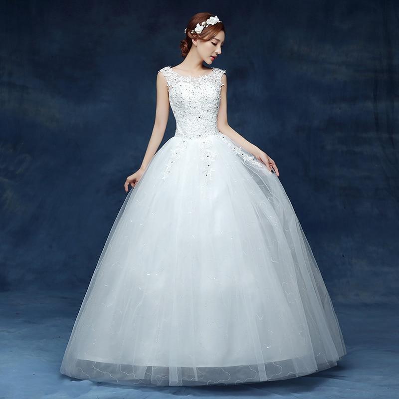 Fansmile Plus Size Lace Up Vestidos de Novia Wedding Dress 2020 Princess Dress Vintage Ball Wedding Gowns Mariage Cheap FSM-041F