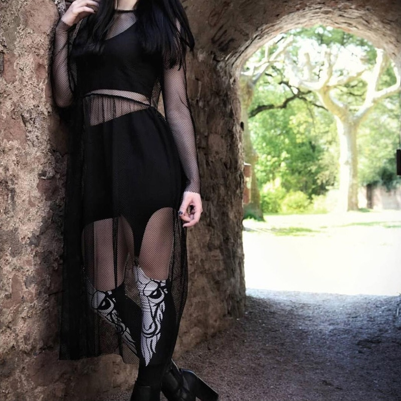45 Punk Devil moda Punk personalidad Mujer Pantalones estilo gótico negro Sexy Slim-Fitting pantalones moda lápiz legging Pantalones