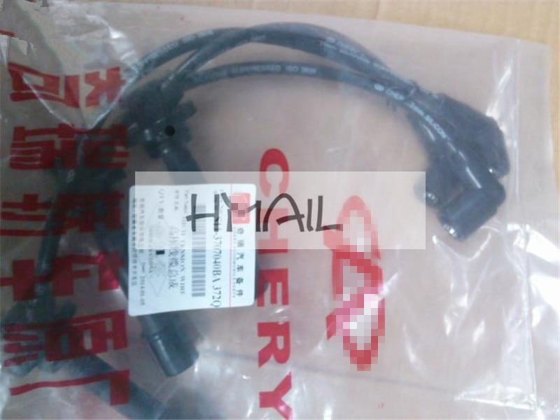 3 uds Chery QQ hign tensione wire para motor qq 372, línea de alto voltaje, línea divisoria de cilindro de encendido, S11-3707040BA de alto voltaje