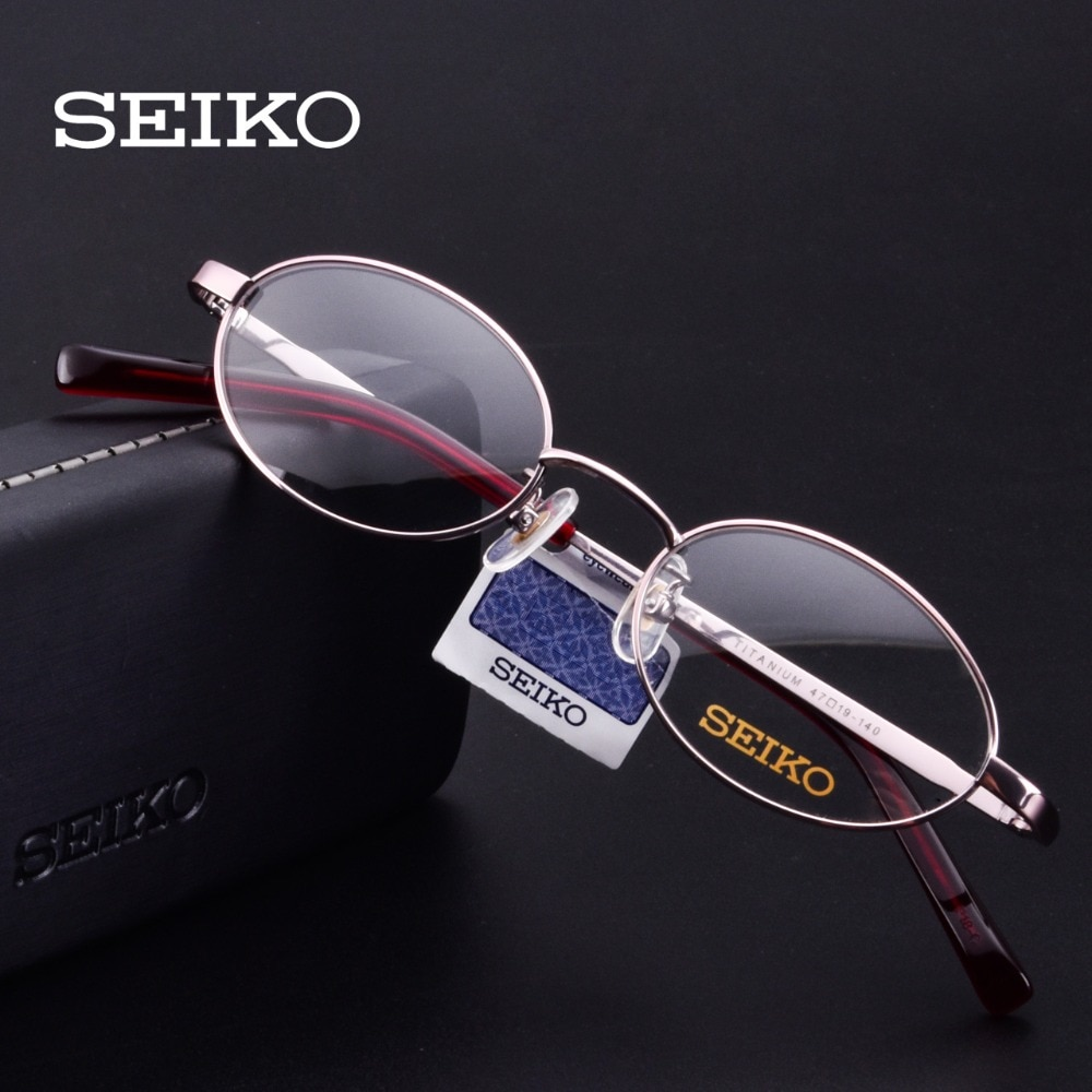 Женские титановые очки SEIKO, маленькие оправы для коррекции зрения из чистого титана H03085